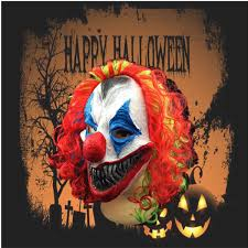 new halloween mask creepy clown head costume party fancy