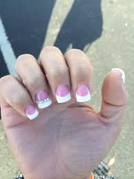 pink white set with rhinestones accent nail flawless yelp