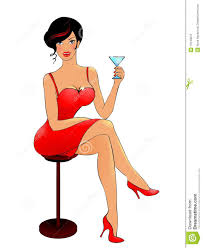 martini woman lady drinking martini clipart