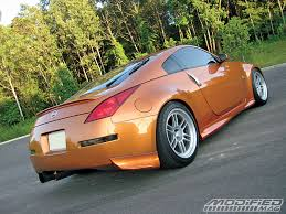 nissan 350z back bumper 2005 nissan 350z modified magazine