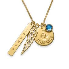 personalized charm necklaces charm necklace with gold plating