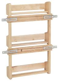 Spice Rack For Wall Mounting Wall Mounted Wooden Spice Rack Houzz