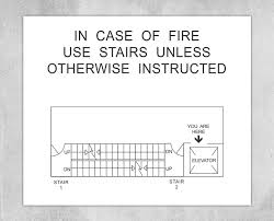Fire Exit Floor Plan You Are Here Signs Nyc Egress Map Signs Brooklyn Signs
