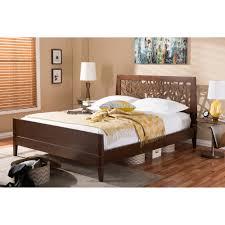 Modern King Size Bed Frame Baxton Studio Jennifer Tree Branch Inspired Modern And