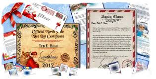 official letters from santa official pole mail personalized letters from santa claus