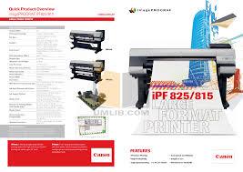 canon printer manuals download free pdf for canon imageprograf ipf825 printer manual