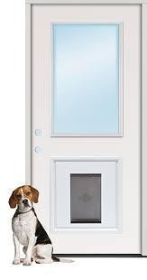 Exterior Pet Door Discount Half Lite Steel Prehung Door Unit With Pet Door Insert