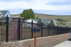 forceful wrought iron fencing modern fence ideas with latest