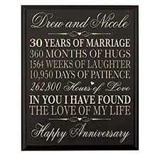 30th wedding anniversary gift personalized 30th wedding anniversary gift for
