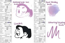 paint tool sai brushes resources pinterest