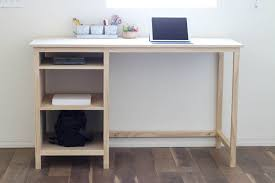counter height desk with storage buildsomething com