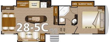 Thor Fifth Wheel Floor Plans by Northwood Arctic Fox Fifth Wheels