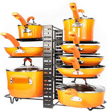 how to organize pots and pans in cabinet pots and pans organizer kitchen cabinet organization and storage pot rack organizers 3 diy methods adjustable pot lid holder for kitchen
