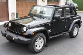 jeep wrangler 4 door top off 2007 jeep wrangler sahara unlimited for sale black soft top power
