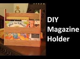 using wood diy magazine holder using wood
