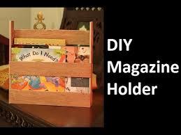 diy magazine holder using wood