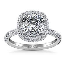 halo cushion cut engagement ring halo cushion cut engagement ring kristine 14k white gold imagine