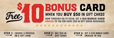buy e gift cards get a gift card the logan s roadhouse