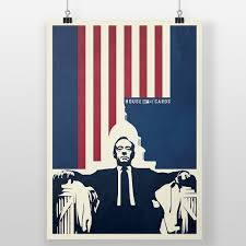 house of cards poster democracy print frank underwood
