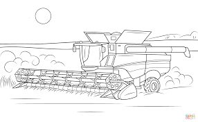 jeep drawing easy john deere combine coloring page free printable coloring pages