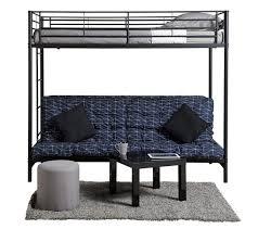 lit mezzanine et canapé mezzanine banquette studio noir lits superposés et mezzanines but