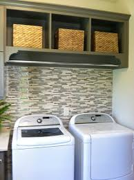 tile behind washer dryer rod above washer dryer combo ideas