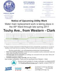 City Of Chicago Ward Map by Information On Ward Water Main Work Ward 49