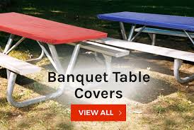 fitted picnic table covers kwik covers fitted plastic table covers with elastic kwik covers