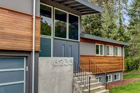 split level house with front porch split level exterior makeover the modern split board vellum