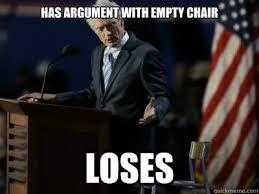 Clint Eastwood Chair Meme - has argument with empty chair loses senile clint eastwood quickmeme