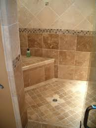 slab sink bathroom shower tile grey wooden unfinished powder vanity and sink