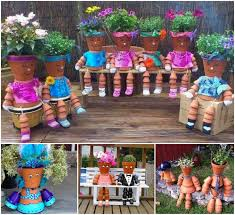 clay pot flower people diy video tutorial the whoot