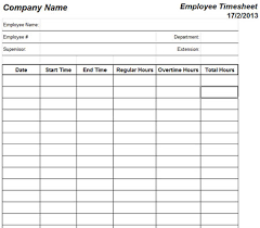 Free Timesheet Template Excel Excel Timesheet Templates Free