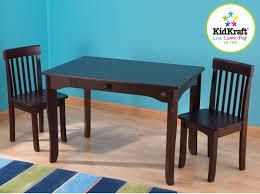 kidkraft farmhouse table and chairs espresso arm chair kidkraft