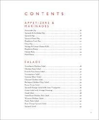 cookbook table of contents frogtummy cookbooks cookbook gatherings