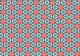 moroccan wrapping paper geometric moroccan pattern bakcground free vector