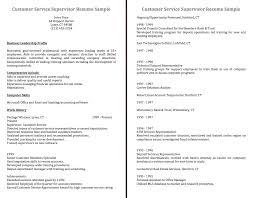 cover letter sample customer service supervisor resume sample