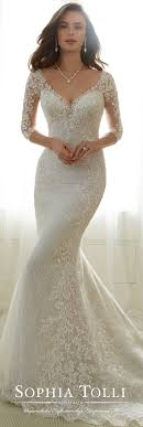 wedding dress no tulle soft trumpet wedding gown tolli y11702