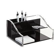clear acrylic desk organizer realspace acrylic desk organizer 4 516 x 7 18 x 8 18 blackclear by