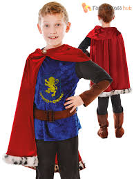 large boys fantasy prince costume medieval tudor king knight