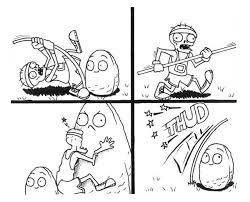 comic of plant vs zombie coloring page coloring sky