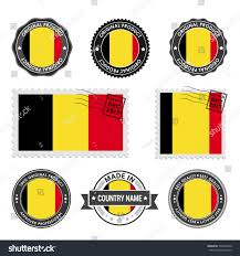 Best Country Flags Vector Set Made Belgium Labels Approved Stock Vector 535056940