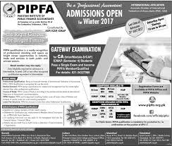 pipfa admission 2017 winter requirements
