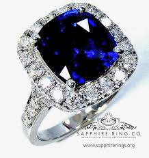 saphire rings platinum sapphire ring 4 46 ct royal blue cushion cut ceylon