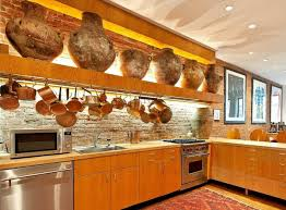 rustic atmosphere kitchen design with wooden kitchen cabinet and