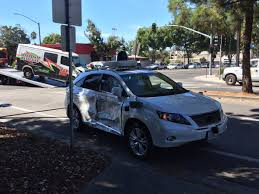 red lexus truck google u0027s self driving car in broadside collision after other car