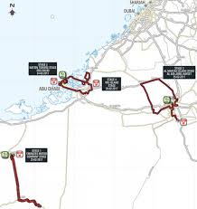 Sun Country Route Map by 2017 Abu Dhabi Tour Live Video Preview Startlist Route Results