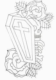 cross coffin skull tattoo sample tattoos book 65 000 tattoos