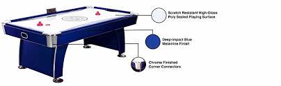 How To Clean Air Hockey Table Amazon Com Hathaway Phantom 7 5 Foot Air Hockey Game Table For