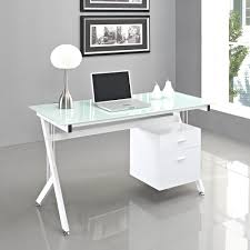 tables cool computer desk ideas with rectangle shape white glass